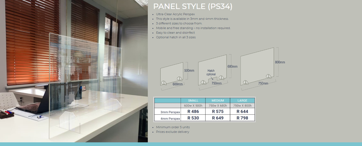 Panel Style Protection Screen